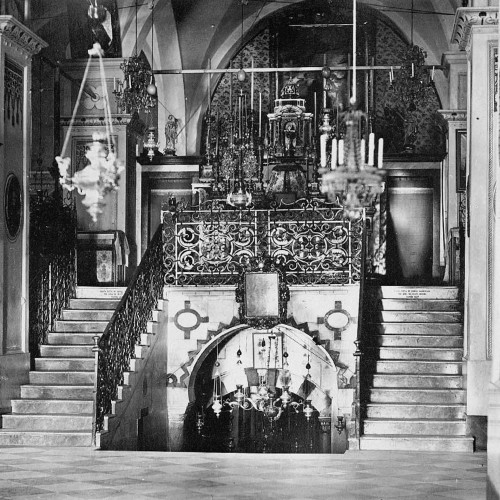 Interior of the Basilica of the Annunciation (about 1882)