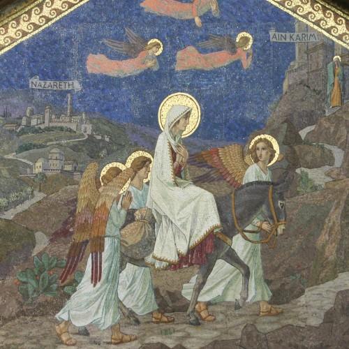 Mosaico de la fachada de Ain Karem, Biagetti, 1937