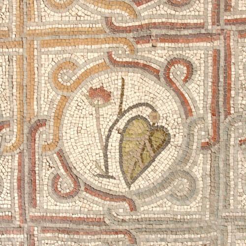 Mosaicos del oratorio, santuario Dominus Flevit, siglo VII